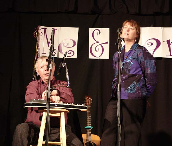 don with autoharp as martha sings